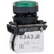 Кнопка КМЕ 4611мЛ 220В 1но+1нз цилиндр индикатор IP65 зел. КЭАЗ