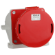 Розетка 145 125А 6h 380AC 3P+PE+N IP67 для монтажа на поверхность КЭАЗ