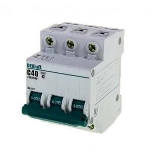 Выключатель авт. мод. 3п C 40А ВА-101 4.5кА DEKraft