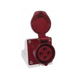 Розетка наруж. уст. 32А 380В 3P+E+N IP44 EKF (125)