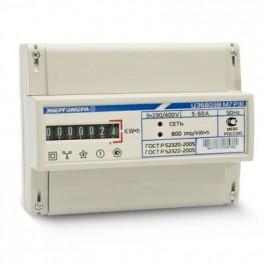 Счетчик ЦЭ-6803В 1 3ф 1-7.5А 230В 1 класс точн. 1 тариф. 4пр М7Р31 DIN-рейка Энергомера