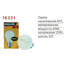 Лампа накаливания Stan A55 FR 1CT/12X10 60Вт E27 220-240В PHILIPS / 871150035471684