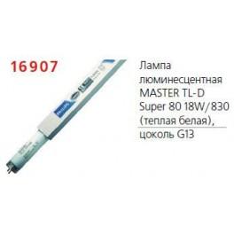 Лампа люминесцентная MASTER TL-D Super 80 18Вт/830 Philips / 871829124047100