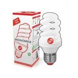 Лампа люминесцентная компакт. SPC 20Вт E27 4000К T2 ЭКОНОМКА