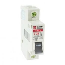 Выключатель авт. 3п C 25А ВА 47-29 4.5кА Basic EKF
