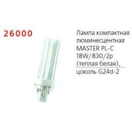Лампа люминесцентная компакт. MASTER PL-C 18W/830 /2P 1CT Philips / 871150062091070