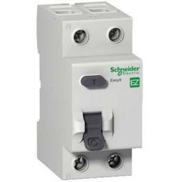 Выключатель авт. диф. тока 1п+N 2мод. C 16А 30мА тип AC 4.5кА EASY 9 SchE