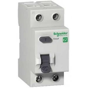 Выключатель авт. диф. тока 1п+N 2мод. С 25А 30мА тип AC 4.5кА EASY 9 SchE