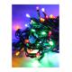 Электрогирлянда 8.8м (7.3+1.5) 80LED зел. провод расстояние между лампами 10см 8 режимов мигания IP20 мультиколор Космос