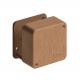 Коробка распр. ОП 79х79х32 бук (светл. основа) Рувинил