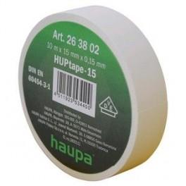 Изолента ПВХ 19мм (рул.20м) бел. HAUPA