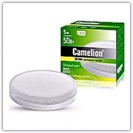 Лампа светодиодная LED5-GX53/830/GX53 5Вт 220В Camelion