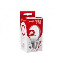 Лампа светодиодная LED 7Вт Шарик 45мм E27 4500К ЭКОНОМКА