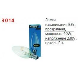 Лампа накаливания Stan 40Вт E14 230В B35 CL 1CT/10X10 Philips / 871150001163350
