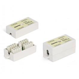 Адаптер CA2-KJ-C5e-WH (coupler) проходной RJ45(8P8C) формат Keystone Jack кат.5е 4 пары бел. Hyperline