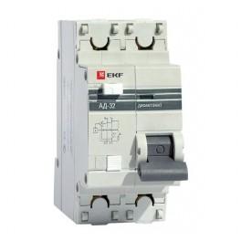 Выключатель авт. диф. тока 1п+N C 63А 100мА тип AC 4.5кА АД-32 PROxima EKF