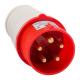 Вилка кабельная 015 16А 380AC 3P+PE+N 6ч IP44 КЭАЗ