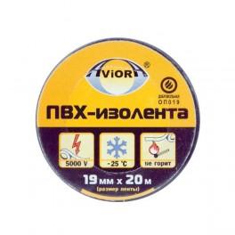 Изолента ПВХ 19мм (рул.20м) черн. AVIORA