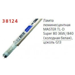 Лампа люминесцентная MASTER TL-D Super 80 36Вт/840 Philips / 871829124127000