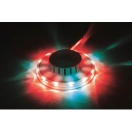 Дисколампа светодиодная с креплением к стене/потолку 12.5х3.5см 220В IP20 мультиколор Космос