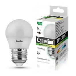 Лампа светодиодная LED5-G45/830/E27 5Вт 220В Camelion