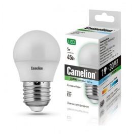 Лампа светодиодная LED5-G45/845/E27 5Вт 220В Camelion
