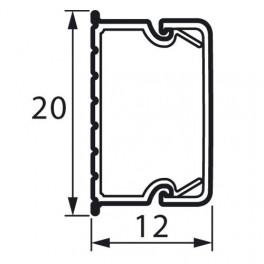 Мини-канал 20х12мм METRA (дл.2м) Leg