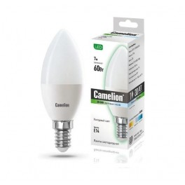 Лампа светодиодная LED7-C35/845/E14 7Вт 220В Camelion