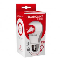 Лампа светодиодная LED 14Вт A60 E27 4500К ЭКОНОМКА