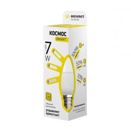 Лампа светодиодная LED CN 7Вт 220В E27 3000К 3 уровня яркости Космос Smart