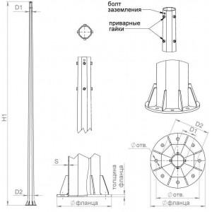 Комплект крепежа для ОГСФ-0.4 Пересвет