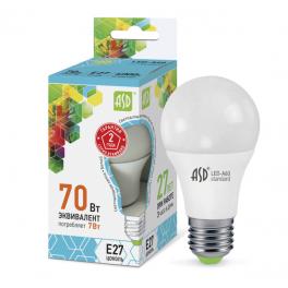 Лампа светодиодная LED-A60-standard 7Вт 160-260В E27 4000К 630лм ASD