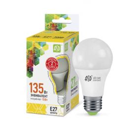 Лампа светодиодная LED-A60-standard 15Вт 160-260В E27 3000К 1350лм ASD