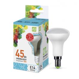 Лампа светодиодная LED-R50-standard 5Вт 160-260В E14 4000К 450лм ASD