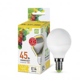 Лампа светодиодная LED-шар-standard 5Вт 160-260В E14 3000К 450лм ASD