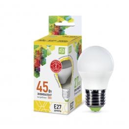 Лампа светодиодная LED-шар-standard 5Вт 160-260В E27 3000К 450лм ASD