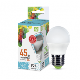 Лампа светодиодная LED-шар-standard 5Вт 160-260В E27 4000К 450лм ASD