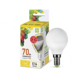 Лампа светодиодная LED-шар-standard 7.5Вт 160-260В E14 3000К 675лм ASD