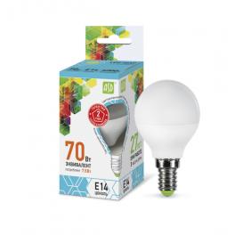 Лампа светодиодная LED-шар-standard 7.5Вт 160-260В E14 4000К 675лм ASD