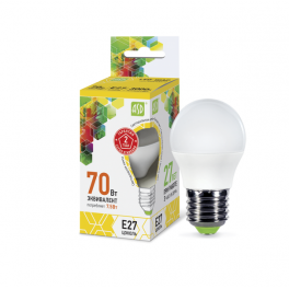 Лампа светодиодная LED-шар-standard 7.5Вт 160-260В E27 3000К 675лм ASD