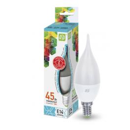 Лампа светодиодная LED-свеча на ветру-standard 5Вт 160-260В E14 4000К 450лм ASD