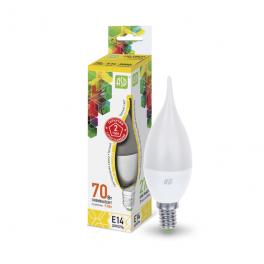 Лампа светодиодная LED-свеча на ветру-standard 7.5Вт 160-260В E14 3000К 675лм ASD