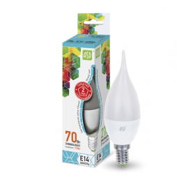 Лампа светодиодная LED-свеча на ветру-standard 7.5Вт 160-260В E14 4000К 675лм ASD