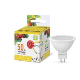 Лампа светодиодная LED-JCDR-standard 5.5Вт 160-260В GU5.3 3000К 495лм ASD