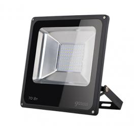 Прожектор светодиодный LED 70Вт IP65 6500К черн. Gauss