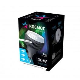 Лампа светодиодная LED KOSMOS premium 100Вт E40 230В 4500К 9800Лм (переходник с E40 на E27 в комплекте) Космос KHWLED100