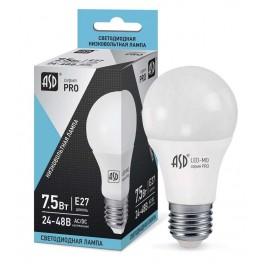 Лампа светодиодная низковольтная LED-MO-24/48V-PRO 7.5Вт 24-48В E27 4000К 600Лм ASD