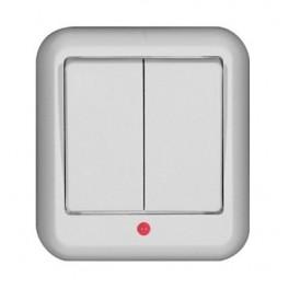 Выключатель 2-кл. ОП Прима 6А с индик. бел. SchE А56-007М-б (А56-007М-б)