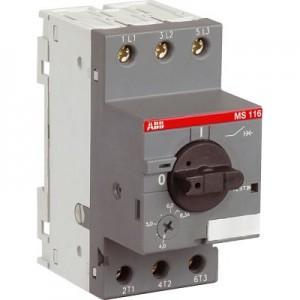 Выключатель авт. защиты двиг. MS-116-0.63 50kA ABB