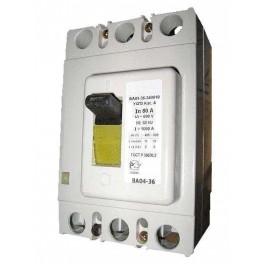 Выключатель авт. 3п 80А Im=1000А ВА04-36 340010 20кА передн. подкл. Cu шина (кабель с каб. наконеч.) Контактор